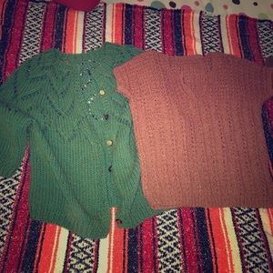Tops - Two vintage/boho sweaters